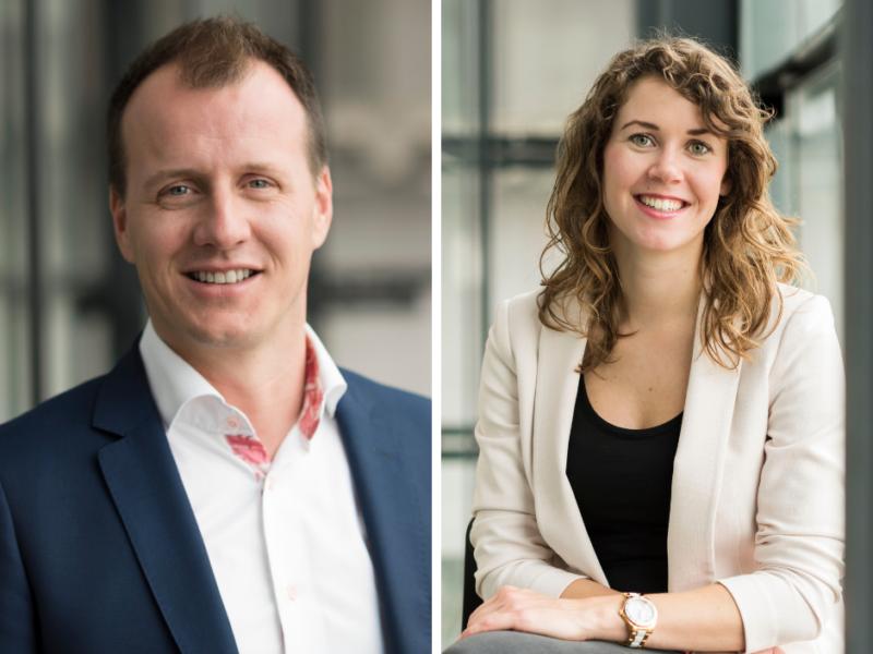 Danny Molendijk en Lynn van der Scheur